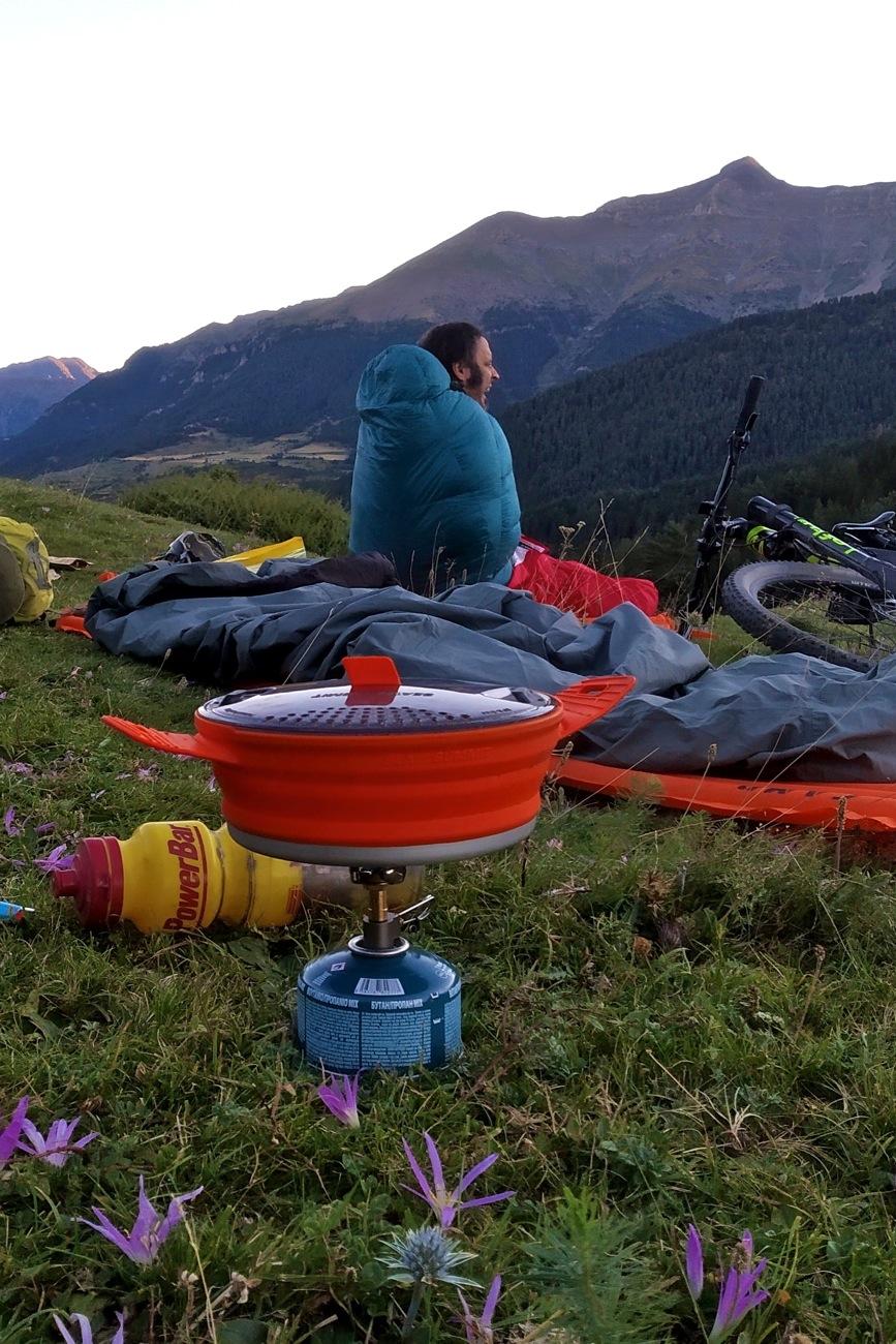 Ruta bikepacking vivac Pirineo Sobrarbe